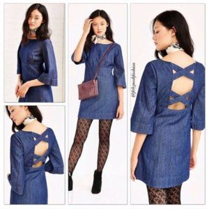 Urban Outfitters Cooperative Denim Cutout Dress 4